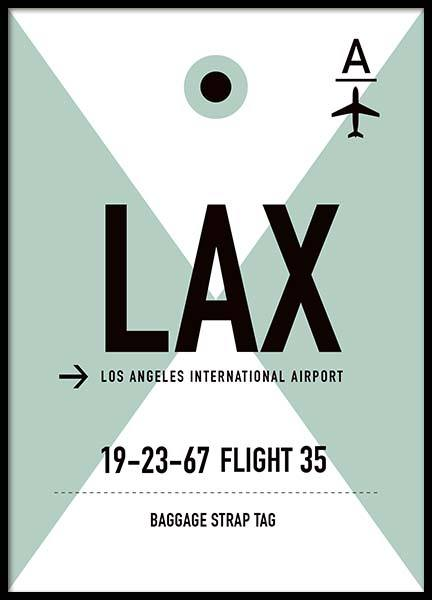 LAX Los Angeles Poster in the group Prints / Maps & cities at Desenio AB (10007)