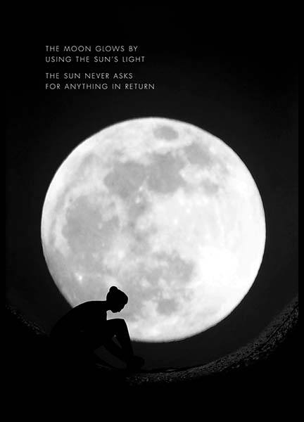 The Moon Glows Poster in the group Prints / Nature at Desenio AB (10013)