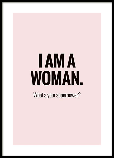 I'm a Woman Poster in the group Prints / Typography & quotes at Desenio AB (10029)