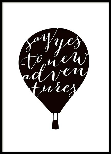 Yes To New Adventures Poster in the group Prints / Typography & quotes at Desenio AB (10032)