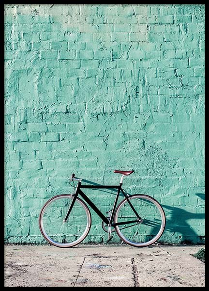 Mint Bike Poster in the group Prints / Photographs at Desenio AB (10043)