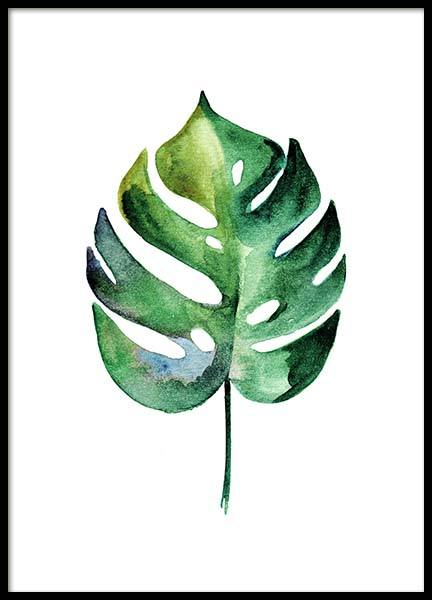 Monstera Aquarell Two Poster in the group Prints / Floral at Desenio AB (10070)