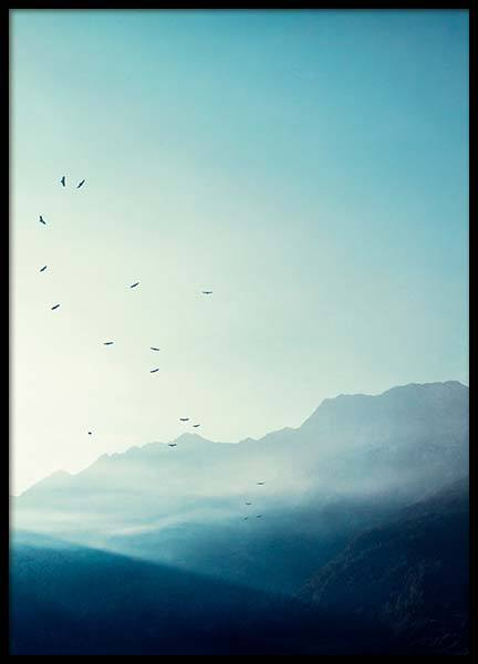 Mountains At Sunrise Poster in the group Prints / Nature at Desenio AB (10091)