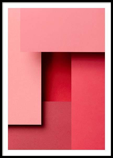 Pink Paper No4 Poster in the group Prints / Graphical at Desenio AB (10107)