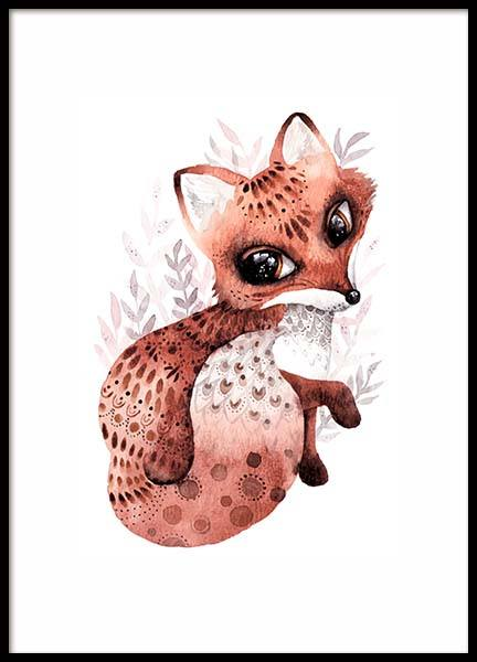 Little Fox Poster in the group Prints / Kids posters at Desenio AB (10116)