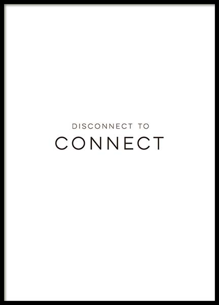 Disconnect Poster in the group Prints / Typography & quotes at Desenio AB (10132)