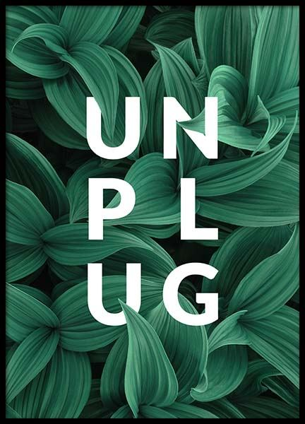 Unplug Poster in the group Prints / Typography & quotes at Desenio AB (10138)
