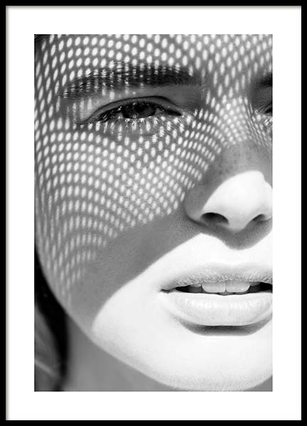 Sunny Shadow Poster in the group Prints / Black & white at Desenio AB (10145)
