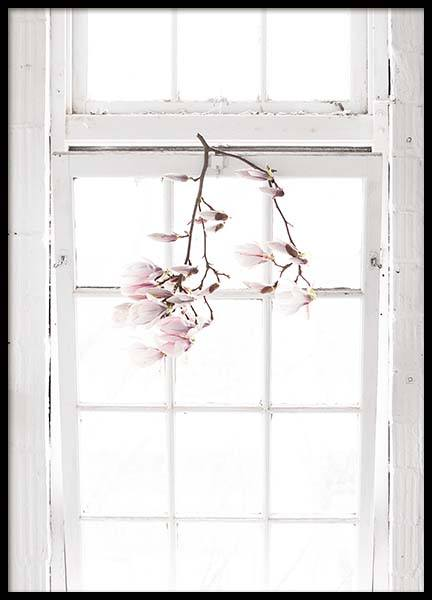 Flowers In The Window Poster in the group Prints / Sizes / 50x70cm | 20x28 at Desenio AB (10182)
