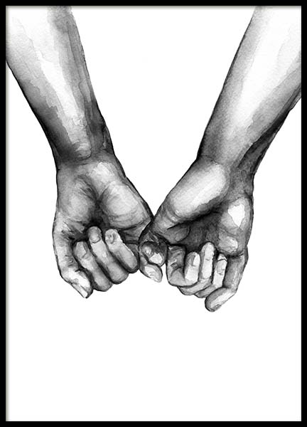 Watercolor Hands No3 Poster in the group Prints / Illustrations at Desenio AB (10203)
