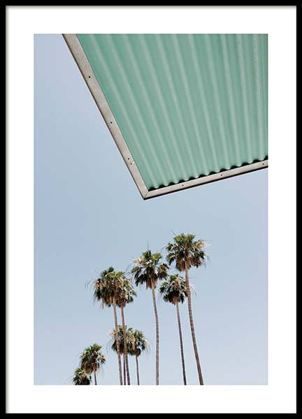 Palm Trees Against Blue Sky Poster in the group Prints / Nature at Desenio AB (10220)