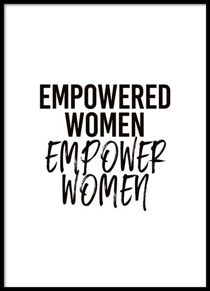 Empower Women Poster in the group Prints / Typography & quotes at Desenio AB (10294)