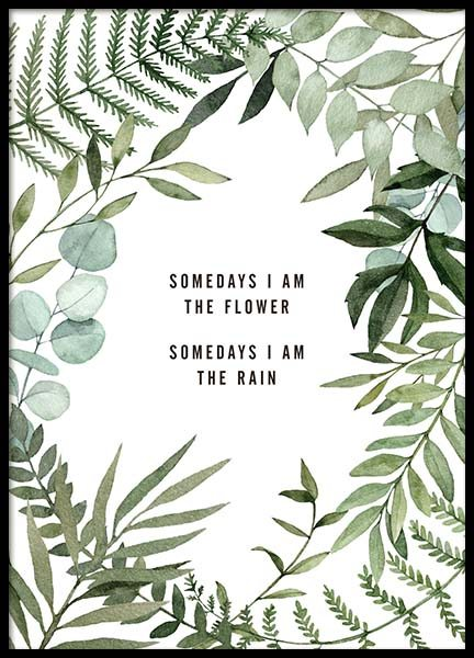Somedays I Am Poster in the group Prints / Typography & quotes at Desenio AB (10296)