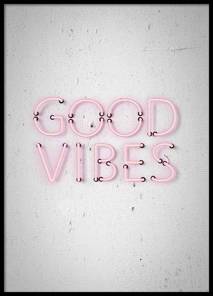 Good Vibes Poster in the group Prints / Typography & quotes at Desenio AB (10303)