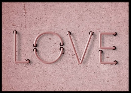 Love Neon No1 Poster in the group Prints / Text posters at Desenio AB (10304)