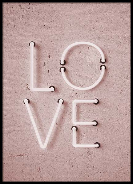 Love Neon No2 Poster in the group Prints / Typography & quotes at Desenio AB (10305)