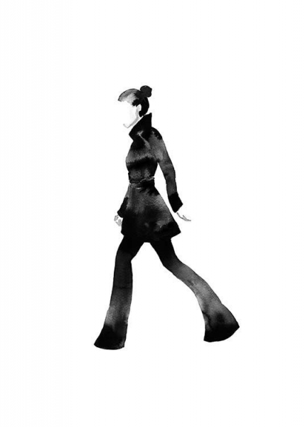 Fashion Silhouette No1 Poster in the group Prints / Fashion at Desenio AB (10312)