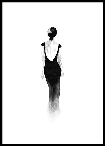Fashion Silhouette No2 Poster in the group Prints / Black & white at Desenio AB (10313)
