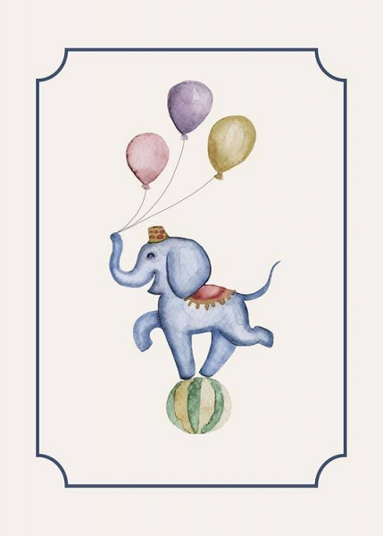 Circus Elephant Poster in the group Prints / Kids posters at Desenio AB (10325)