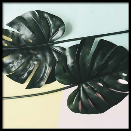 Leaves On Pastel Poster in the group Prints / Floral at Desenio AB (10338)