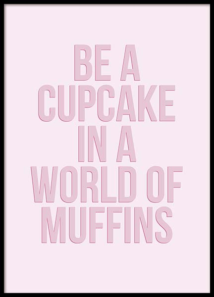 Cupcake Poster in the group Prints / Text posters at Desenio AB (10349)
