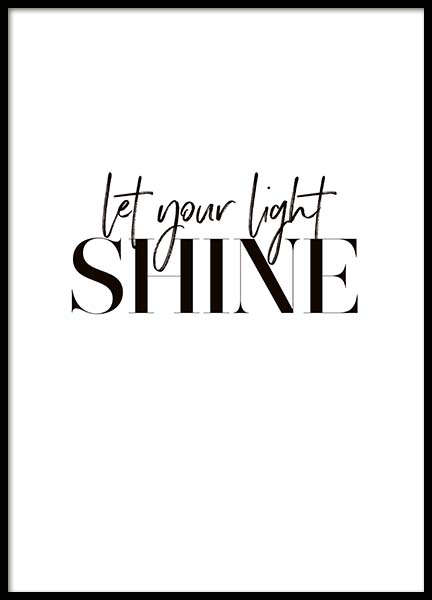 Let Your Light Shine Poster in the group Prints / Typography & quotes at Desenio AB (10367)