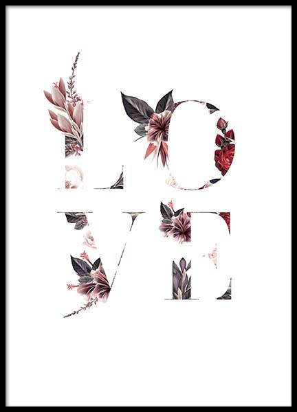 Floral Love Poster in the group Prints / Text posters at Desenio AB (10387)