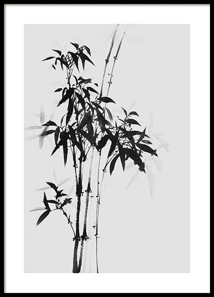 Bamboo Ink No1 Poster in the group Prints / Black & white at Desenio AB (10436)