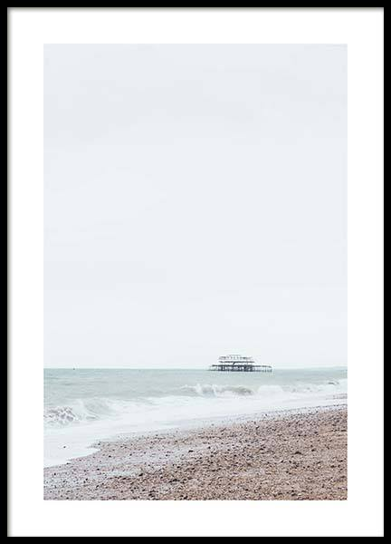 Brighton Beach Poster in the group Prints / Nature at Desenio AB (10469)