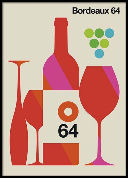 Bordeaux 64 Poster in the group Prints / Kitchen at Desenio AB (10586)