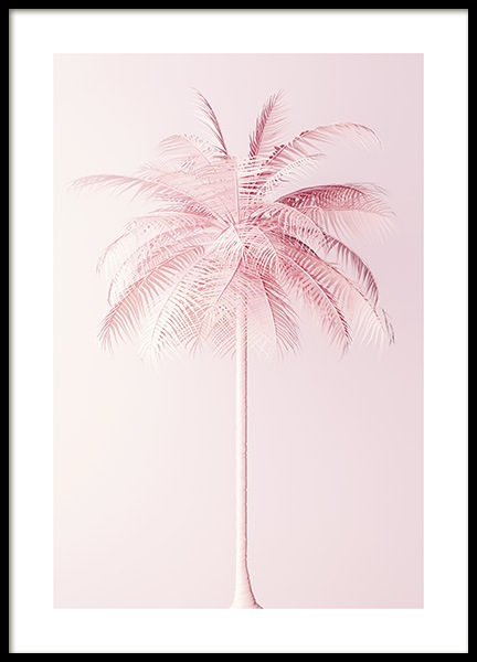 Pastel Pink Palm Poster in the group Prints / Floral at Desenio AB (10635)