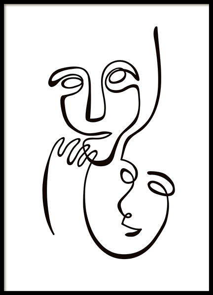 Abstract Line Duo Poster in the group Prints / Black & white at Desenio AB (10839)