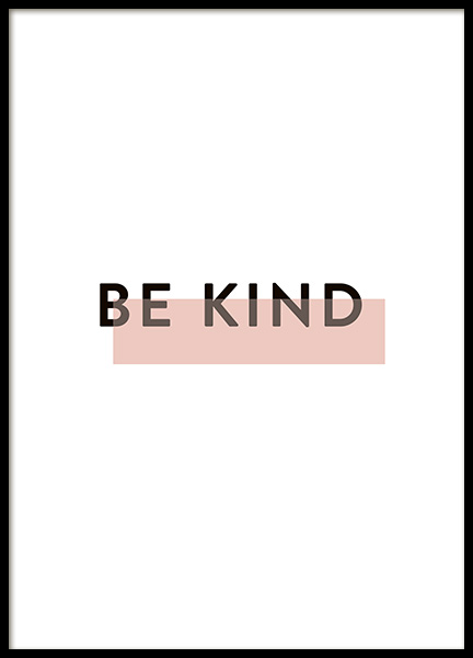 Be Kind Poster in the group Prints / Typography & quotes at Desenio AB (10914)