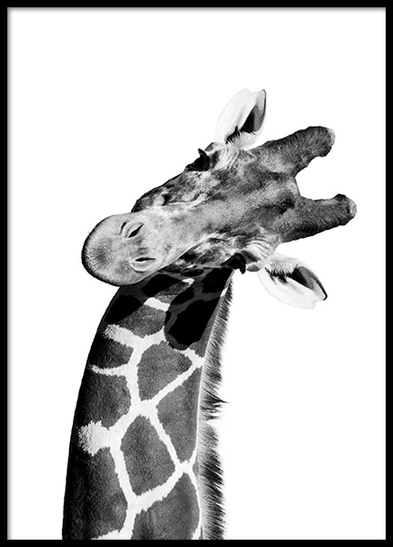 Giraffe Portrait Poster in the group Prints / Kids posters at Desenio AB (10966)