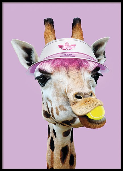 Tennis Giraffe Poster in the group Prints / Kids posters at Desenio AB (11020)