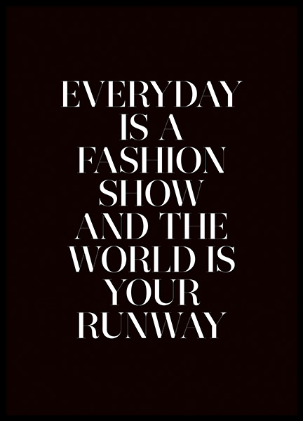 The World is Your Runway Poster in the group Prints / Text posters at Desenio AB (11139)