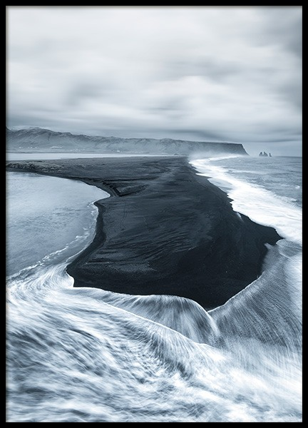 Volcanic Sand Beach Poster in the group Prints / Nature at Desenio AB (11253)