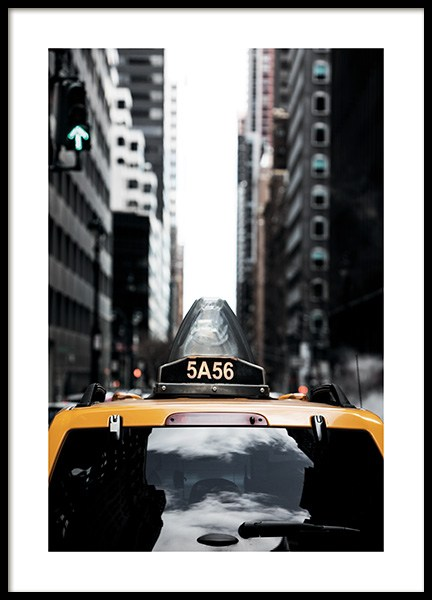 NYC Taxi Poster in the group Prints / Photographs at Desenio AB (11327)