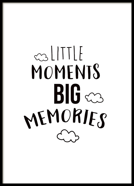 Little Moments Poster in the group Prints / Kids posters at Desenio AB (11442)