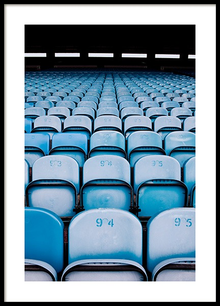 Blue Seats Poster in the group Prints / Photographs at Desenio AB (11478)