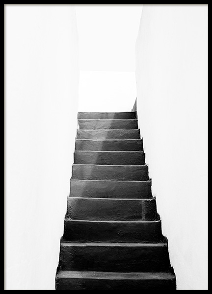 Black and White Stairs Poster in the group Prints / Black & white at Desenio AB (11484)