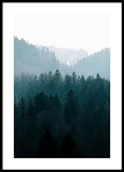 Deep Foggy Forest Poster in the group Prints / Nature at Desenio AB (11630)