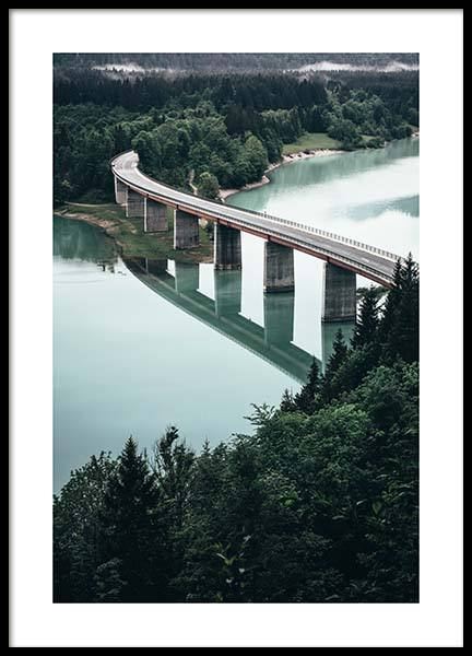 Bridge Over River Poster in the group Prints / Sizes / 50x70cm | 20x28 at Desenio AB (11631)