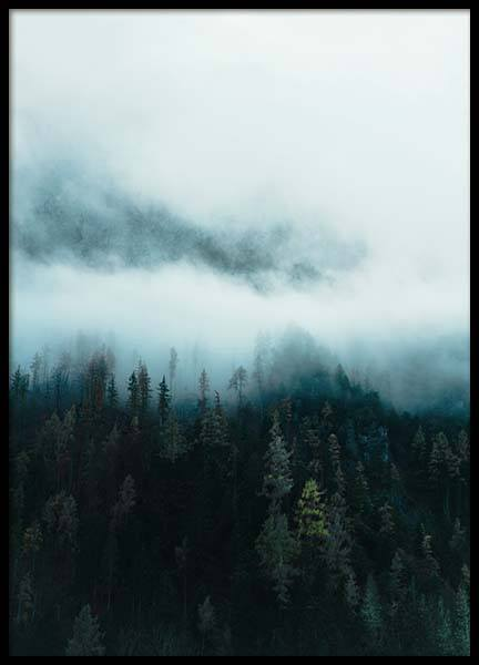 Mountain in Fog Poster in the group Prints / Nature at Desenio AB (11640)