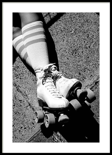 Rollerskates Poster in the group Prints / Photographs at Desenio AB (11677)