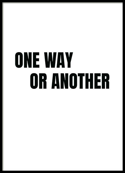 One Way Poster in the group Prints / Sizes / 50x70cm | 20x28 at Desenio AB (11698)