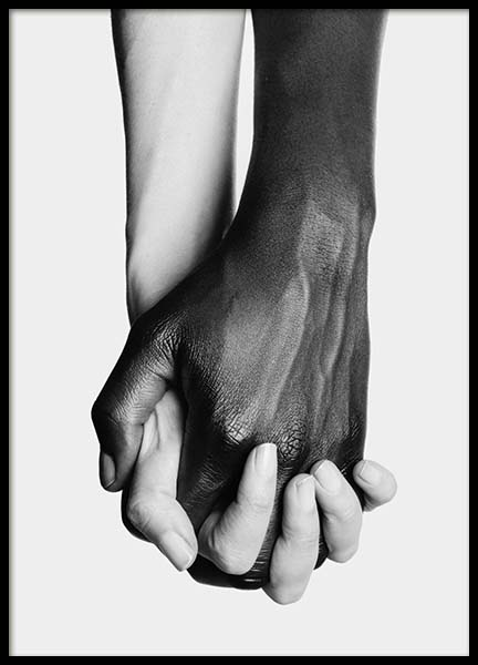 Holding Hands No3 Poster in the group Prints / Black & white at Desenio AB (11708)