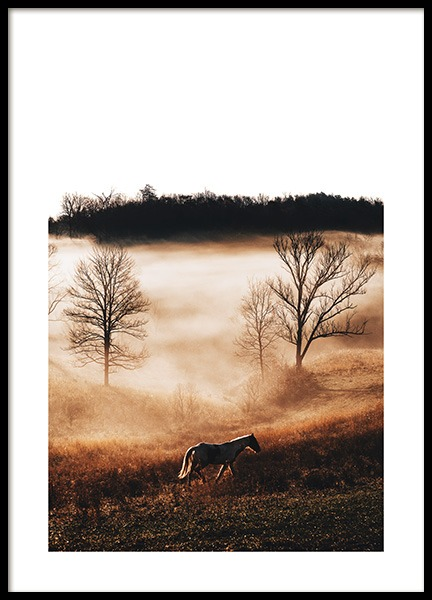 Horse in Landscape Poster in the group Prints / Animals at Desenio AB (11862)