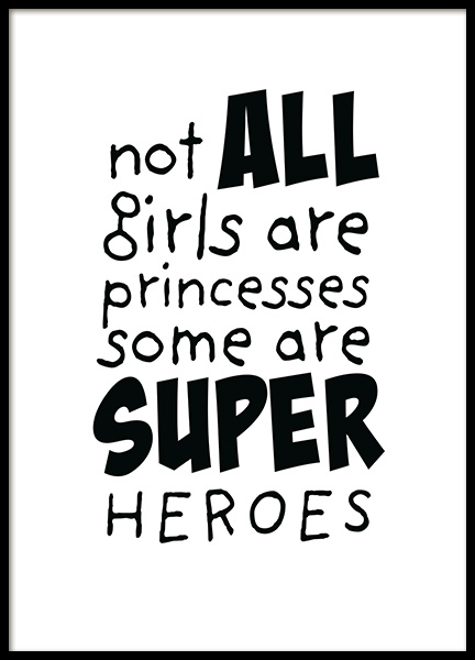 Girls are Superheroes Poster in the group Prints / Kids posters at Desenio AB (11905)