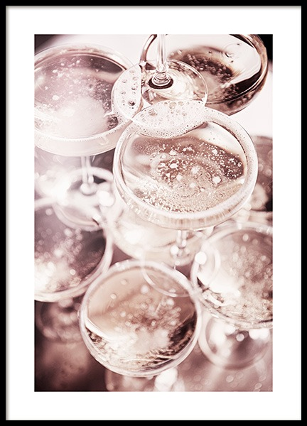 Champagne Blush Poster in the group Prints / Kitchen at Desenio AB (11919)